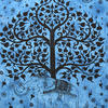 Large Queen Blue Indian Hippie Mandala Elephant Tree Life Tapestry Bedspread Bea 3