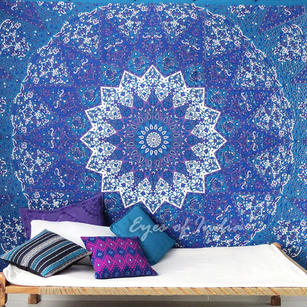 Queen Elephant Indian Mandala Tapestry Wall Hanging Picnic Bohemian Boho Hippie