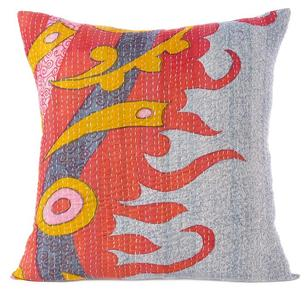 Colorful Vintage Kantha Decorative Boho Bohemian Pillow Couch Cushion Sofa Throw Cover - 20""