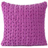"Velvet Zig Zag Braided Colorful Decorative Bohemian Sofa Throw Couch Pillow Boho Cushion Cover - 16"" 1"