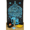 Elephant Tree of Life Tapestry Hippie Bedspread Bohemian Wall Hanging - Small/Twin 1