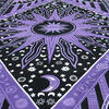 Small Twin Purple Hippie Indian Mandala Sun And Moon Tapestry Wall Hanging Picni 4