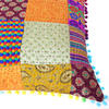 "Colorful Kantha Brocade Throw Sofa Couch Cushion Boho Bohemian Pillow Cover - 16"" 3"