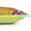 "Colorful Kantha Brocade Throw Sofa Couch Cushion Boho Bohemian Pillow Cover - 16"" 4"
