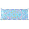 """Turquoise Teal Embroidered Swati Bolster Long Lumbar Colorful Couch Pillow Cushion Cover - 14 X 32"""" 1"""