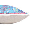 """Turquoise Teal Embroidered Swati Bolster Long Lumbar Colorful Couch Pillow Cushion Cover - 14 X 32"""" 4"""