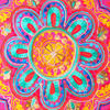 """Pink Orange Blue Embroidered Colorful Throw Pillow Bohemian Couch Sofa Cushion Cover - 16"""" 3"""