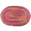 Colorful Oval Woven Jute Chindi Braided Area Rag Rug BOhemian 4 X 6 ft 1