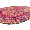 Colorful Oval Woven Jute Chindi Braided Area Rag Rug BOhemian 4 X 6 ft 2