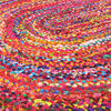 Colorful Oval Woven Jute Chindi Braided Area Rag Rug BOhemian 4 X 6 ft 4