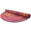 Colorful Oval Woven Jute Chindi Braided Area Rag Rug BOhemian 4 X 6 ft 5