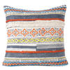 "Blue Orange Yellow Colorful Decorative Textured Fringe Tassel Pillow Cushion Cover - 20"",  16 X 24"" 1"