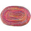 Oval Woven Jute Chindi Braide Area Rag Rug Bohemian Handwoven - 4 X 6 ft 1