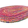 Oval Woven Jute Chindi Braide Area Rag Rug Bohemian Handwoven - 4 X 6 ft 2