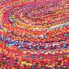 Oval Woven Jute Chindi Braide Area Rag Rug Bohemian Handwoven - 4 X 6 ft 4