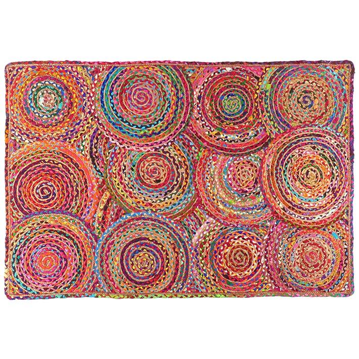Colorful Woven Jute Chindi Braided Area Decoratative Rag Rug Accent Bohemian - 3X5, 4X6