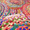 Colorful Woven Jute Chindi Braided Area Decoratative Rag Rug Accent Bohemian - 3X5, 4X6 4