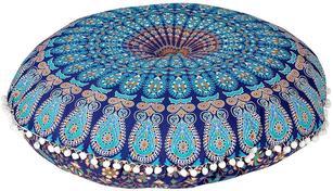 "32"" Floor Pillow Meditation Cushion Seating Throw Mandala Cover Hippie Round Col"
