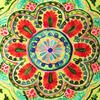 "Green and Yellow Embroidered Colorful Decorative Sofa Throw Pillow Couch Cushion Cover - 16"" 2"
