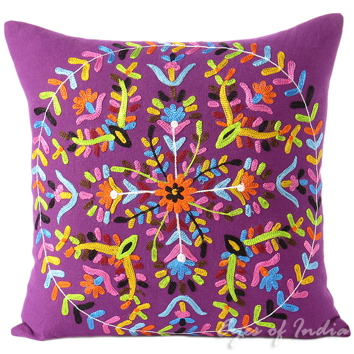 small decorative target couch burgundy sari pillows bohemian accent for cushion dark statement cover cushions ethnic throw unique embroidered red pillow
