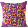"Purple Embroidered Boho Colorful Decorative Bohemian Throw Pillow Couch Sofa Cushion Cover - 16"" 1"