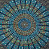 Large Queen Blue Indian Elephant Mandala Tapestry Wall Hanging Picnic Bohemian B 4