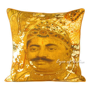 Maharajah Colorful Decorative Boho Throw Pillow Bohemian Couch Sofa Cushion Cover - 18""