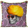 "Man with Turban Boho Throw Pillow Bohemian Couch Sofa Cushion Cover - 18"" 1"