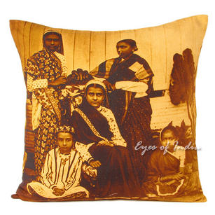 Family Colorful Decorative Bohemian Throw Pillow Boho Couch Sofa Cushion Cover - 20""