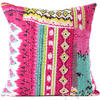 Kantha Decorative Throw Pillow Boho Bohemian Couch Sofa Cushion Cover - 16""
