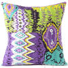 Kantha Colorful Decorative Throw Pillow Boho Bohemian Couch Sofa Cushion Cover - 16""