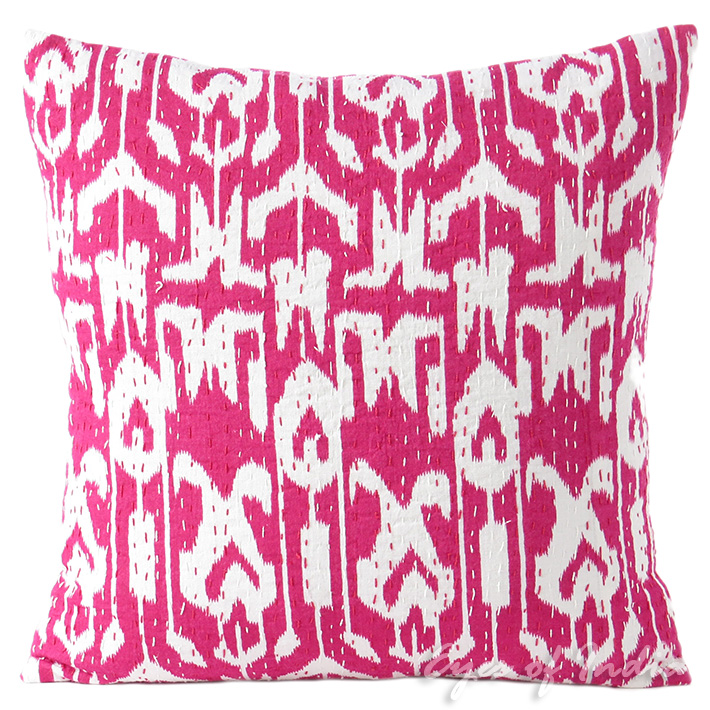 Kantha Decorative Bohemian Boho Pillow Couch Sofa Cushion Throw Cover - 16