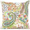 "Kantha Paisley Decorative Bohemian Throw Pillow Boho Couch Cushion Cover - 16"""