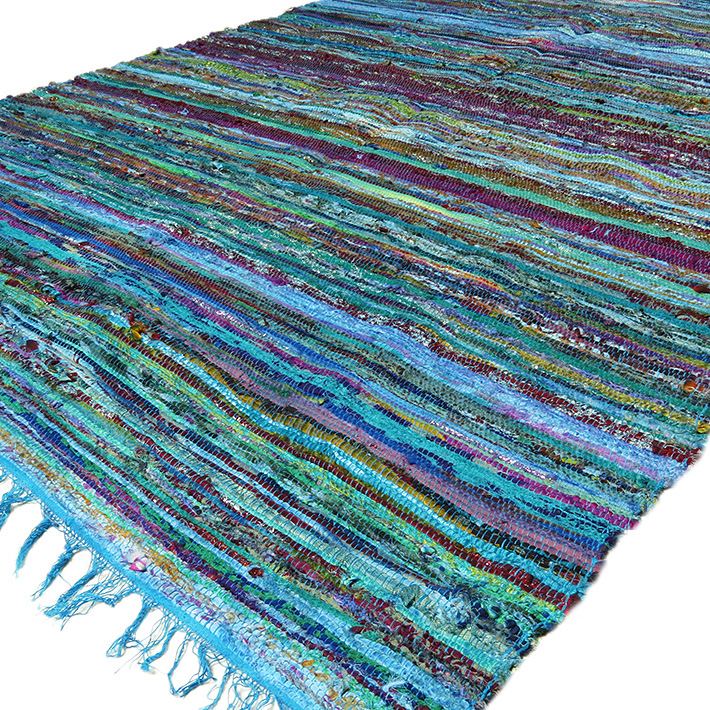 Denim Chindi Rag Rug: Completely New Striped Rag Rugs #VY21