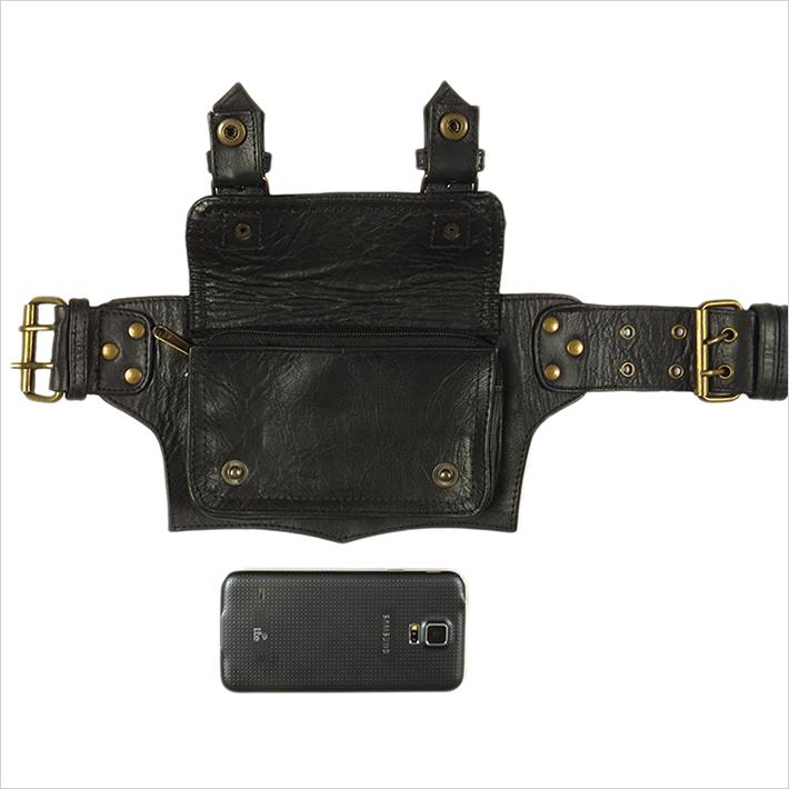 thumbnail 4 - Black Brown Leather Belt Bum Waist Hip Bag Pouch Fanny Pack Utility Pocket Trave