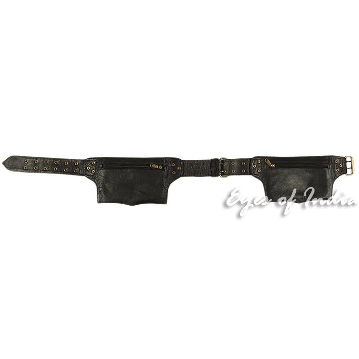 thumbnail 5 - Black Brown Leather Belt Bum Waist Hip Bag Pouch Fanny Pack Utility Pocket Trave