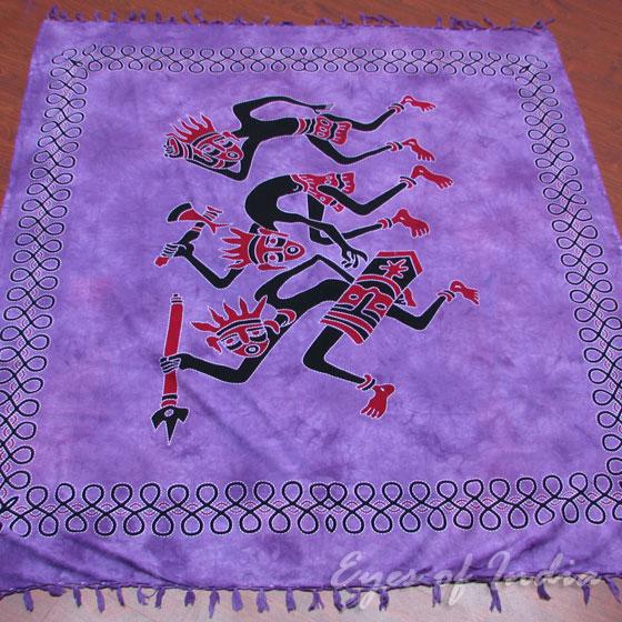 Purple Tribal Wall Hanging Hippie Boho Tapestry Bohemian Bedspread - Queen/Double