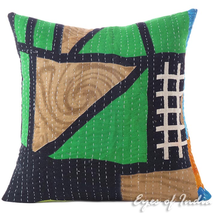 16 Kantha Boho Colorful Decorative Cushion Couch Pillow Cover Sofa