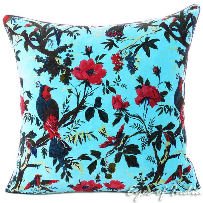 Blue Decorative Velvet Pillow Boho Pillows Eyes Of India Impressive Light Blue Decorative Throw Pillows