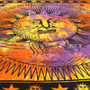 Colorful Tie Dye Sun and Moon Tapestry Bedspread Wall Hanging with Fringes - Twin/Single 5