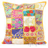 """Yellow Patchwork Decorative Boho Bohemian Pillow Couch Cushion Throw Cover - 20"""""""