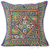 Blue Rajkoti Patchwork Colorful Decorative Bohemian Pillow Couch Cushion Sofa Throw Cover - 16""