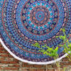 "Blue Roundie Beach Throw Picnic Mat Spread Hippie Mandala Tapestry Bohemian Boho - 80"" 1"