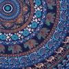 "Blue Roundie Beach Throw Picnic Mat Spread Hippie Mandala Tapestry Bohemian Boho - 80"" 6"