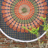 "Green Roundie Beach Throw Picnic Mat Spread Hippie Mandala Tapestry Bohemian  Boho - 80"" 1"