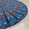 "Blue Roundie Beach Throw Picnic Spread Mandala Hippie Tapestry Mat Boho Bohemian  - 80"" 4"