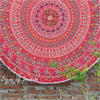 "Red Roundie Beach Mat Picnic Spread Mandala Hippie Bohemian Tapestry Boho Throw - 80"" 1"