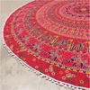 "Red Roundie Beach Mat Picnic Spread Mandala Hippie Bohemian Tapestry Boho Throw - 80"" 4"