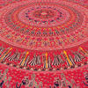"Red Roundie Beach Mat Picnic Spread Mandala Hippie Bohemian Tapestry Boho Throw - 80"" 5"
