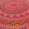 "80"" Red Roundie Beach Throw Picnic Mat Spread Hippie Mandala Tapestry Boho Bohemian 5"